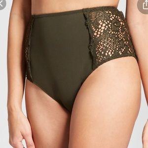 Mossimo high waist olive bikini bottom